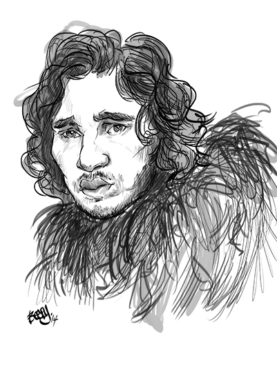 jon sow game of thrones caricature beefy