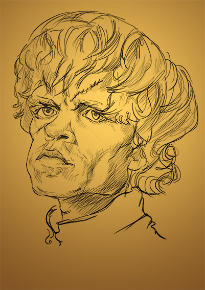 tyrion lannister beefy's caricature