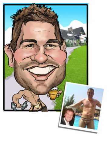 Best Man Gift Caricature 01