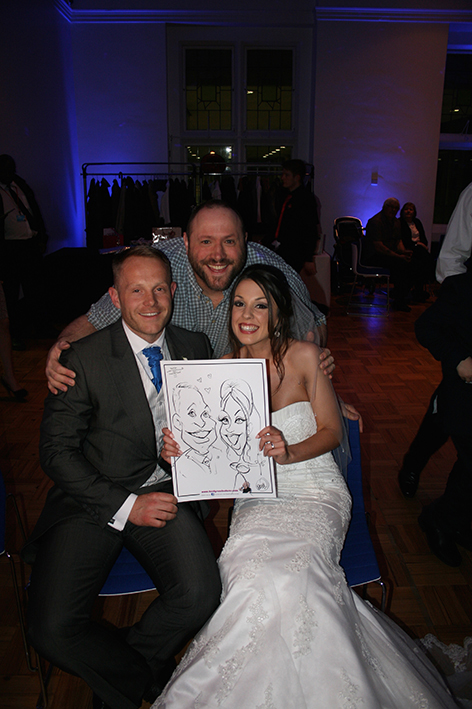 Nottingham Wedding Caricaturist Sarah and Dan Birkin