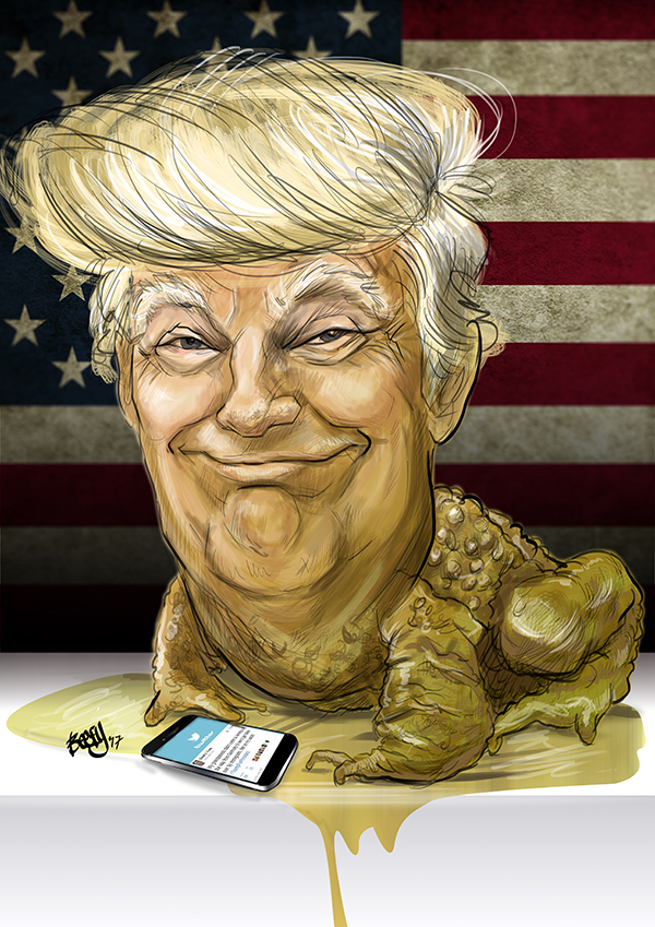 Donald Trump's Inauguration Caricature